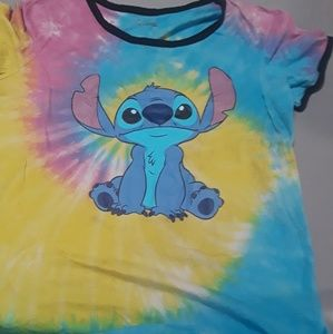 Tie dye Lilo and Stitch Shirt
